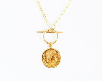 Coin Clasp Necklace