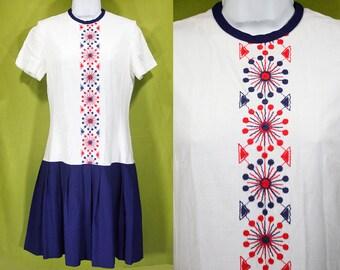 Vintage 60's HOB・NOBBER NATURALLY Drop Waist Dress S