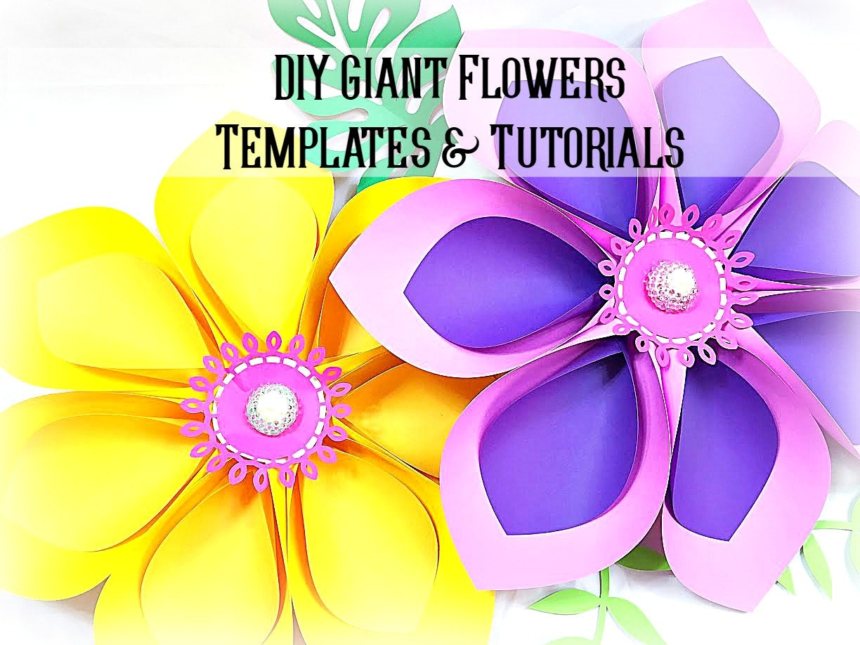 Giant hawaiian paper flower templates tutorial paper flower zoom izmirmasajfo