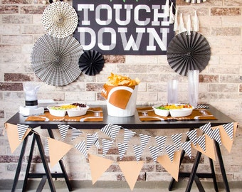 Touchdown Football Party Backdrop (INSTANT DOWNLOAD) by Lindi Haws of Love The Day
