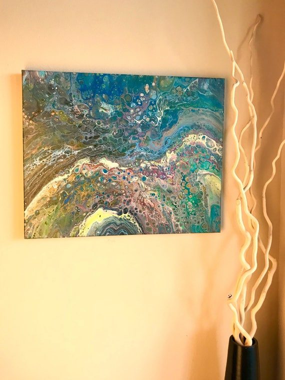 Acrylic Abstract painting on Canvas 16x20 Wall Decor original