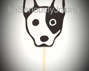 Cupcake Toppers-12 Jack Russel Terrier Cupcake Toppers- Birthday party-dog party-puppy-mans best friend-rescue dog