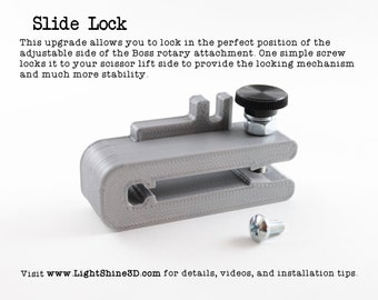 Boss Rotary Slide Lock - Fits all Boss models that use the wheeled rotary attachment.
