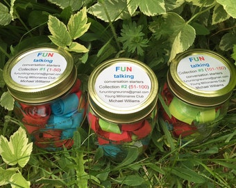 FUNtalking Conversation Starters - 3 jars available, each with 50 questions - 150 different questions in total