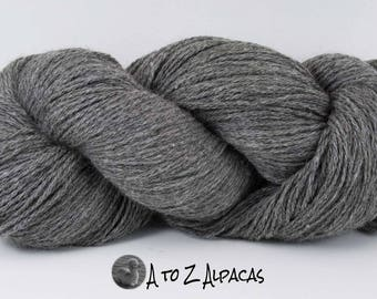 Royal Baby Natural Alpaca Yarn Worsted Weight Gray