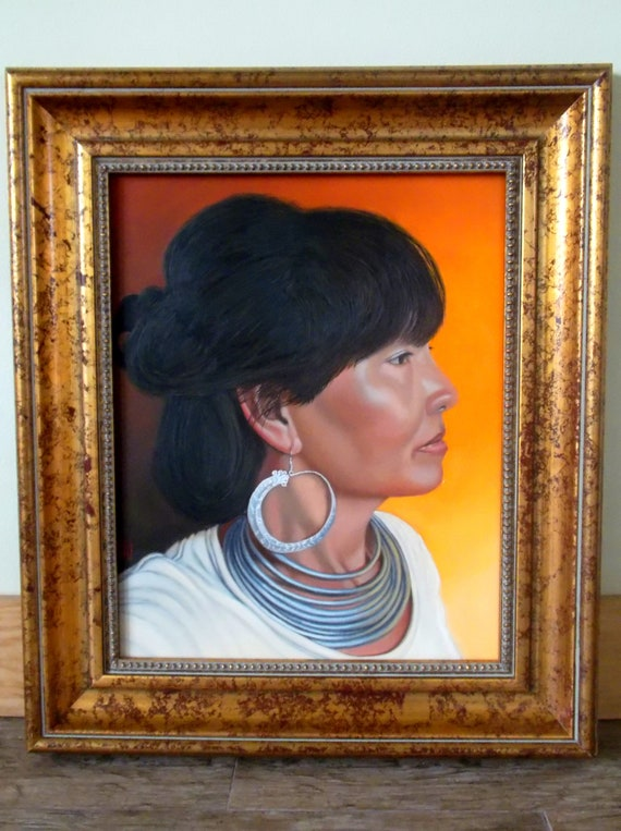 Lady of Sapa, oil on panel, image size 16 x 20 inches, framed