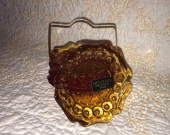 Retro Heritage by Smith Ashtrays with stand - set of 5 - 3 red and 2 amber