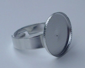 Blank ring tray silver - 16 mm - 20
