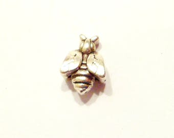 1 x Pearl bee insect Metal 15 mm