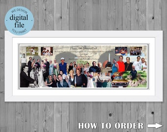 70th birthday gift Photo Collage for 70th Birthday Photo Montage 70th Birthday photo collage gift