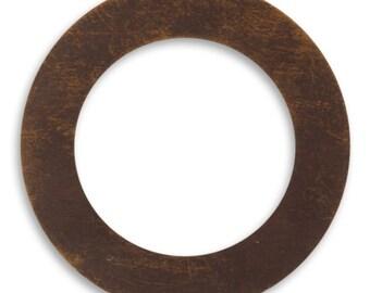 DESTASH SALE: Vintaj Brass 34mm Circle Frame Altered Blank - set of 24