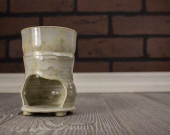 Wax Tart Warmer, Tart Burner, Soy Wax Melter, Gift Mom, Mom Gift, Ceramic Tart Burner, Ceramics and Pottery, Crystalline, Rustic Home Decor
