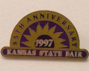 Kansas State Fair 1997 Pin 85th Anniversary Collectible