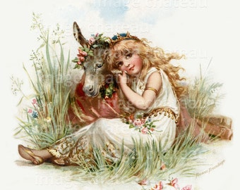 MIDSUMMER'S NIGHT DREAM Shakespeare by Frances Brundage New Giclee Art Print Shakespeare Titania Donkey Fantasy Archival Print to Frame
