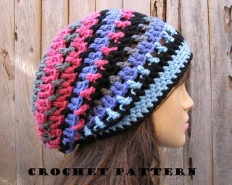 Crochet hat pattern - Slouchy Hat, Crochet Pattern PDF,Easy, Great for Beginners, Pattern No. 36