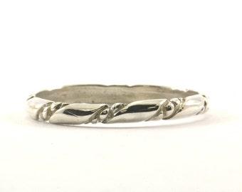 Vintage torsadées Design bande anneau en argent 925 RG 2168-E