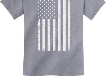 Children's USA Flag - Cute 4th of July Toddler/Infant Kids Short Sleeve T-Shirt