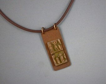 Pendant, Necklace, Bronze, Ancient People For Him or Her