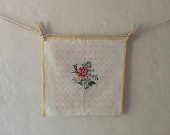 Rose floral cross stitch