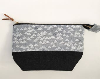 Zippered Pouch with Metal Zip