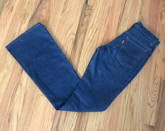 VINTAGE LEVI'S 746-0917 Deadstock Bellbottom denim jeans 27X34
