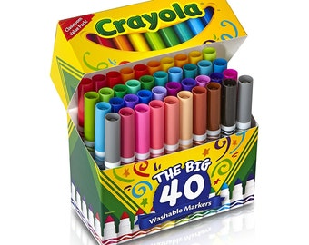 100 Colored Markers; Adult Coloring Book, Drawing Markers Pens ...
