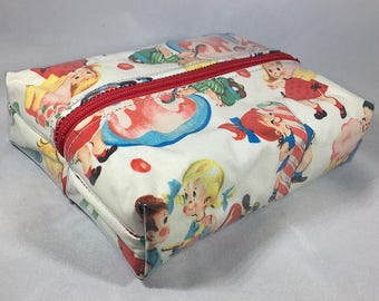 Make Up Bag - Retro Candy Kids Box Shaped Cosmetic Bag