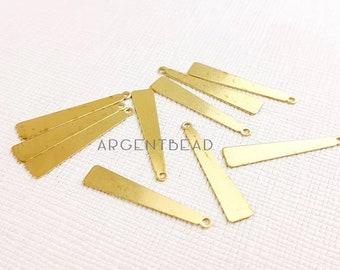 10pcs 7x25mm High Quality Raw Brass Triangle Pendants Earring Drops Geometry Minimal Painting Custom Eco-friendly Brass 1AG118