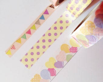 Party Time - Washi Japanese Tape (1 of each left)