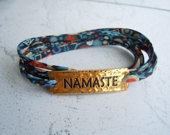 Namaste Bracelet, Wrap Bracelet, Liberty Cord, Inspirational Gift, Yoga Jewelry, Namaste Gift, Yoga Gift, Gift For Friend, Yoga Accessories