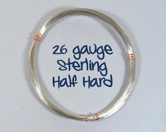 Sterling Silver Wire - 26ga HH - Choose Your Length