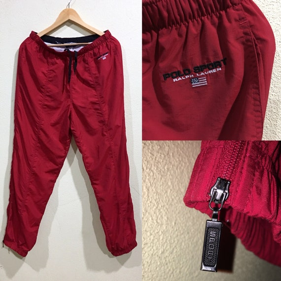 Double Pants Joggers Warm Zipper Sport Vintage Embroidery Sportwear Track Sport Polo Rare Pocket Red Polo Up p8tBqOwU