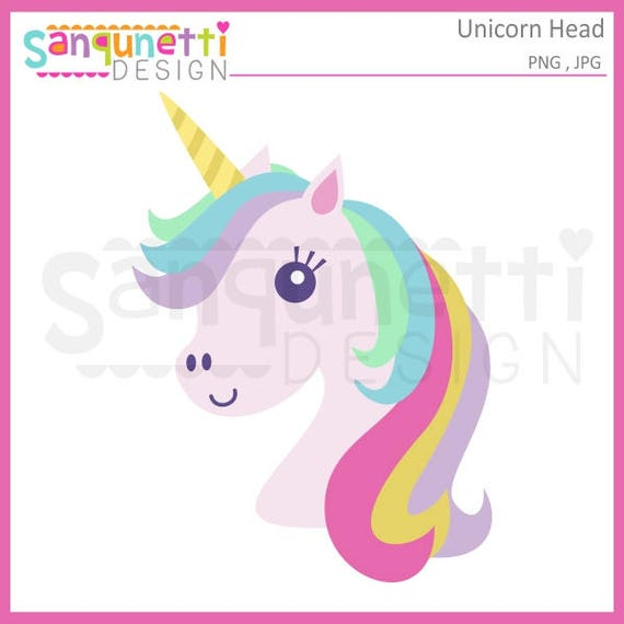 Unicorn clipart Unicorn head clipart rainbow clipart horse