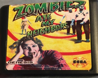 Zombies Ate My Neighbors Sega Genesis Retron RETRO cartridge