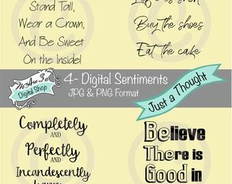 We Are 3 Digital Shop - Just a Thought Sentiments,  Transparent Digital Image