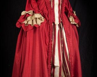 Robe a la francaise Rococo Dress Saue Gown Custom Sized