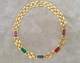 Napier Signed Byzantine Link Necklace
