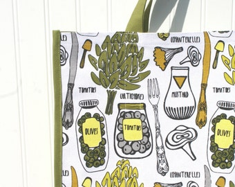 Artichokes & Olives Shopping Bag - Eco-Friendly Market Bag