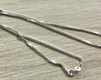 Choice- Sterling Silver 1.5mm Box Chain- very nice size and weight