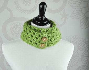 Scarf - Green - Neckwarmer - Crochet