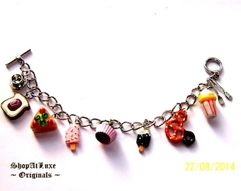 Foodie Fun Ltd Original Charm Bracelet by ShopAtLuxe