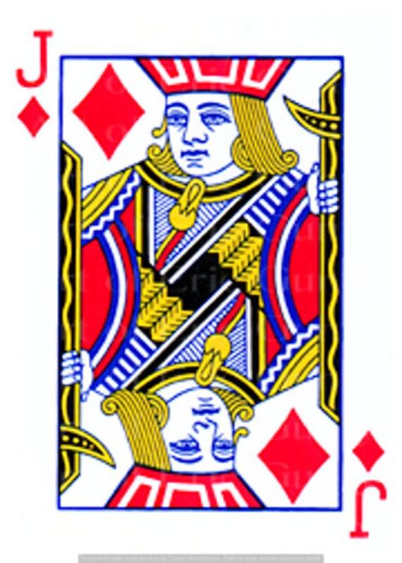 Jack of Diamonds Poker Casino Las Vegas Birthday - Edible Cake and Cupcake Topper For Birthdays and Parties! - D24145