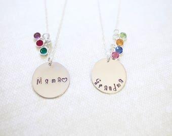 Gift for Grandma - Personalized Grandma Necklace/ Birthstone Necklace/ Gift for Grandmother from Daughter, Son/ Grandma Jewelry