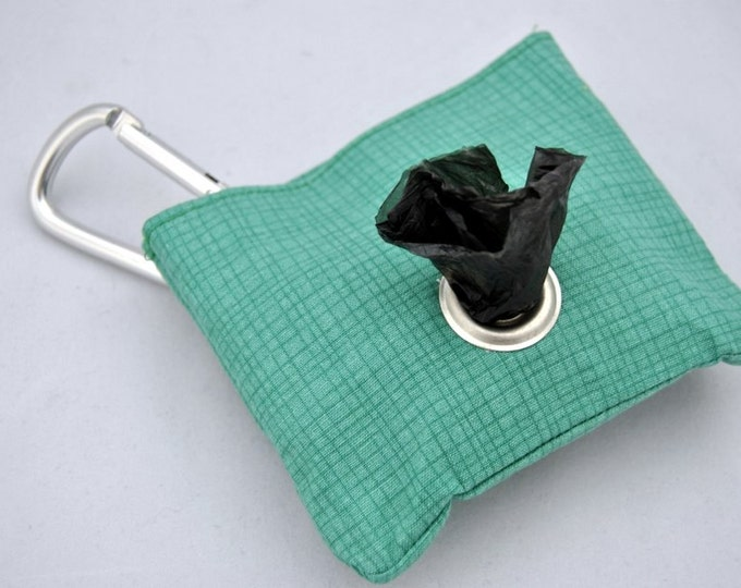 Grid Green Poop Bag Pouch