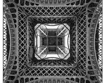Eiffel Tower // Abstract Art // Fine Art Photograph // Unique View // Paris, France // Christmas Gift