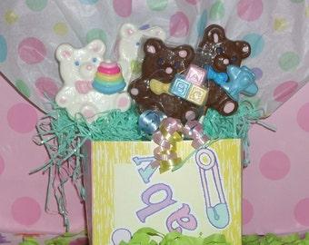 Teddy Bear Chocolate Lollipops birthdays, baby showers