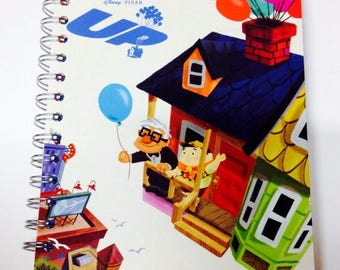 Disney Pixar Up Repurposed Little Golden Book Planner/Sketchbook/Journal/ Autograph Book/Notebook