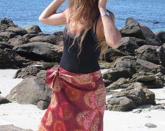New: Ethnic skirt tied at the waist