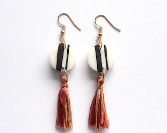 Polymer Multi Tassel Earrings