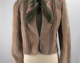 Vintage Suede Cropped Jacket Leathermaster Small